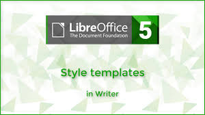 Style Templates Style Template In Writer Libreoffice 5 3