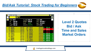 Level 2 Stock Quotes Unique Bid Ask Tutorial Stock Trading For Beginners YouTube
