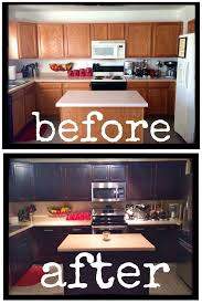 diy how to inexpensively stain paint refinish your kitchen cabinets