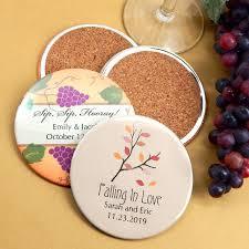 Wedding Coasters Personalized Coaster Wedding Favors Two Sided Wedding Coasters