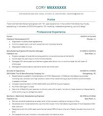 Manufacturing Engineer Resume Sample industrial engineering resume objective – Directory Resume Sample
