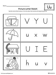 2. picture letter match letter u worksheet, letter u worksheets for ...
