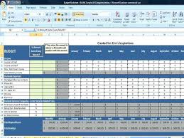 Monthly Expenses Worksheet Excel Budget Spreadsheet Template Free ...
