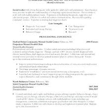 Narrative Resume Sample Social Work Resume Example Download Sample