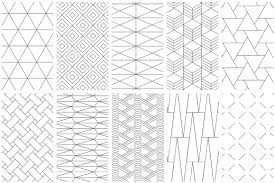 Line Pattern Cool Simple Line Geometric Patterns By Youan Design Bundles