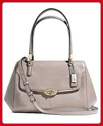 Coach Madison Grey Birch Small Leather Madeline East West Satchel - Top  handle bags ( Amazon Partner-Link)