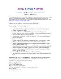 Babysitter Job Description Duties Nanny Role Housekeeper
