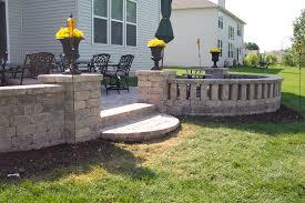 block patio inspirational exterior design beautiful patio wall ideas using unilock