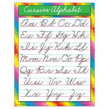 6 Ea Chart Cursive Alphabet Zaner Bloser Same Day Shipping