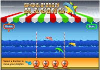 http://www.bbc.co.uk/skillswise/game/ma17frac-game-dolphin-racing-fractions