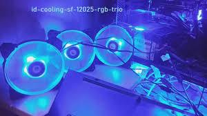 <b>ID Cooling</b> SF-<b>12025</b>-<b>RGB</b>-<b>TRIO</b> Комплект вентиляторов. - YouTube