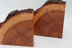 Pecan Wood Bookends