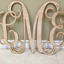Wood Letters, Wooden Monogram, Wall Art, Vine Monogram, Script  Monogram,Wedding
