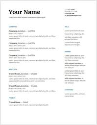 Resumè Template Google Docs Resume Template Free Professional Template 7