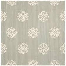 safavieh soho grey ivory 8 ft x 8 ft square area rug