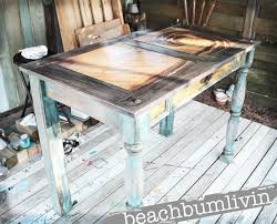 Awesome Distressed Painted Furniture Ideas Design Funky Painted Desk With  Wave Design From Wood Stain