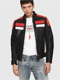Diesel Mens Jeans Size Chart Leather Jackets Diesel Mens L Yuja Black Red