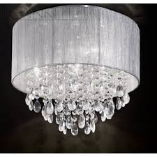 franklite fl2281 4 royale crystal flush ceiling light