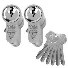 door lock and key black and white. Beautiful And YaleKeyedAlikeAntiBumpEuroCylinderuPVC Intended Door Lock And Key Black White