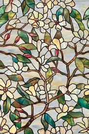 handsome picture of window decoration design using light green fl stained glass decorative window home depot