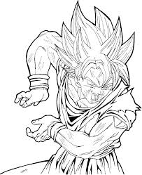 Dragon Ball Z Kai Printable Coloring Pages Dragon Ball Z Coloring