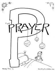 While a toddler or preschooler might scribble all over a coloring sheet, with no respect for the boundaries (lines on the coloring page), as the child gets older, they will begin to respect those lines. P Is For Prayer Bible Alphabet Coloring Page