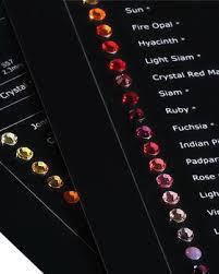 Swarovski Crystals Color Chart And Size Swarovski Crystal