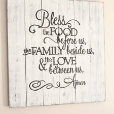 bless the food before us rustic sign huge dining room wall art on bless our home wall art with shop bless the food before us sign on wanelo