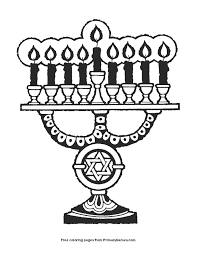 Menorah Coloring Page Printable Hanukkah Coloring Ebook Primarygames