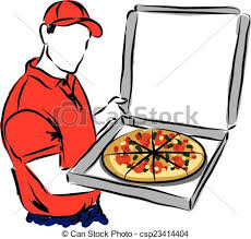 pizza delivery clipart. Beautiful Delivery Pizza Delivery Man Illustration Cop Intended Clipart A