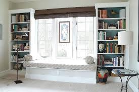 bay window storage bench luxury master bedroom seat with bookshelves medium pic ideas