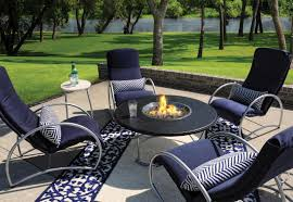 fire pit coffee table with cover metal garden dining diy outdoor in middle and chairs
