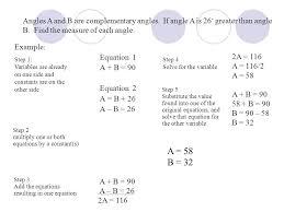 example equation 1 a b 90 equation 2 a b 26