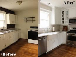 Remodeled Small Galley Kitchen, Fabric Paper Glue Via Remodelaholic Nice Ideas