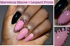 NOTD | Marvelous Mauve + Leopard Print Nail Art - Stella's Addiction