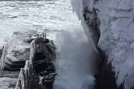 Tide Chart Thunder Hole Maine Watch This Thunder Hole In Winter In Slow Motion