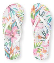 Lld Hawaiian Floral Braided Flip Flop