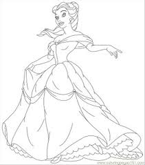 Small Picture Ncess Coloring Pages Belle 05 Coloring Page Free Disney Princess