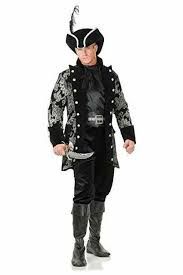 Charades Costume Size Chart Charades Royal Pirate Captain Jacket Plus Size Adult Halloween Costume Ch52494