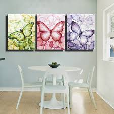 3 piece purple colorful abstract canvas wall art prints hd poster modern picture printed animal oil painting of butterflies art in painting calligraphy  on beyond the wall art prints and posters with 3 piece purple colorful abstract canvas wall art prints hd poster