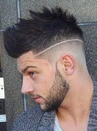 Coupe De Cheveux Homme Dégradé Court Avec Trait