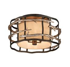 rustic oil rubbed bronze drum shade flush mount design for home ceiling design ideas