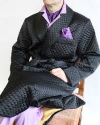 CLASSIC DRESSING GOWN FOR MAN IN QUILTED SATIN SILK FULLY LINED IN ... & CLASSIC DRESSING GOWN FOR MAN IN QUILTED SATIN SILK FULLY LINED IN BEMBERG Adamdwight.com