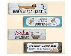 Tierschilder Lustige Hunde Schilder Sprüche Tierisch Tolle Geschenke