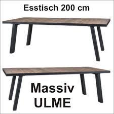 Esstisch 200 Iron Iii Esstisch 200 Ulme Massiv Vintage