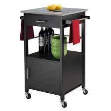 Granite Top Kitchen Cart Winsome Davenport Kitchen Cart With Granite Top Reviews Wayfair