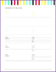 Phone Book Template Download Excel Free Address Name Number