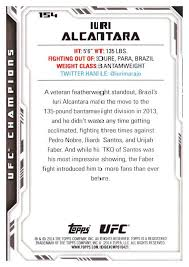 2016 topps ufc chions base singles 129 199