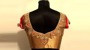 Double Colour Blouse Back Neck Designs 30 Blouse Designs For Silk Sarees