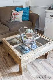 Diy rustic coffee table Tables Ideas Upcycled Window Coffee Table For Diyers 14 Easy Diy Rustic Coffee Tables You Can Build On Budget